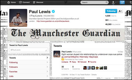 Paul Lewis Twitter feed