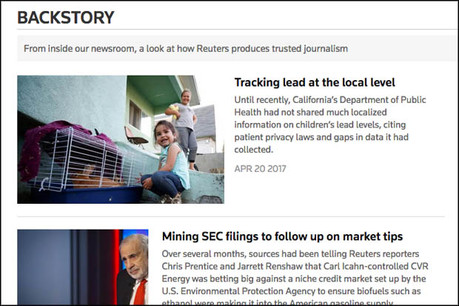Reuters launched Backstory to provide more transparency