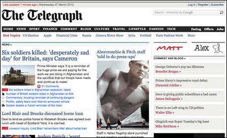 Telegraph screenshot