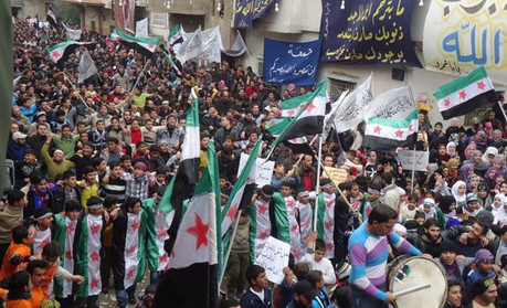 Protests in Homs, Syria