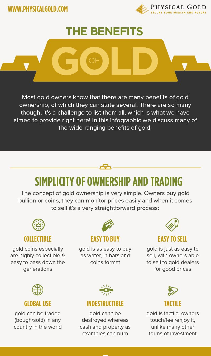 Physical Gold discuss the many benefits of gold published in a recent  infographic | Latest press releases | PressGo | Journalism.co.uk