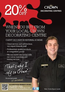 Crown Decorating Centres Launches Client Decorating Referral