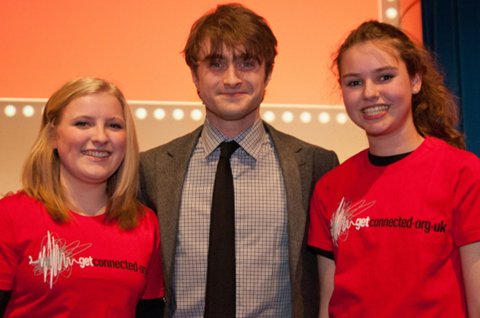 Daniel Radcliffe attended a charity auction in aid of Get Connected