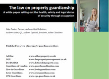 Property guardians providers