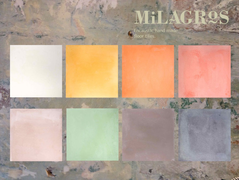Encaustic Cement Hand Made Floor Tiles From Milagros Latest Press