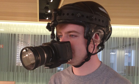 Headcam pic of Jarrard Cole