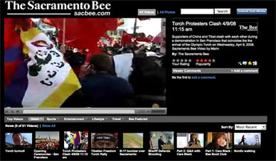 image of sacbee video website