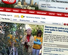 image of sacbee website