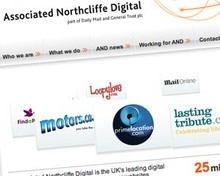 Screenshot of Asssociated Northcliffe Digital's website