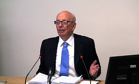 Rupert Murdoch at Leveson inquiry