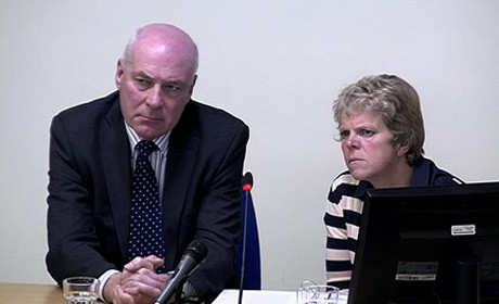 Sally and Bob Dowler at the Leveson inquiry