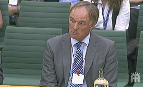 Tom Crone giving evidence in September 2011