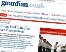 Screenshot of Guardian.co.uk