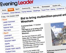 Screenshot of Evening Leader website