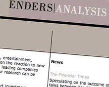 Screenshot of Enders Analysis page