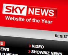 Screenshot of Sky News homepage
